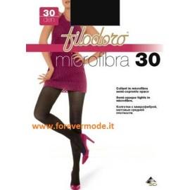 3 Collant donna Filodoro Microfibra 30 semi coprente tuttonudo