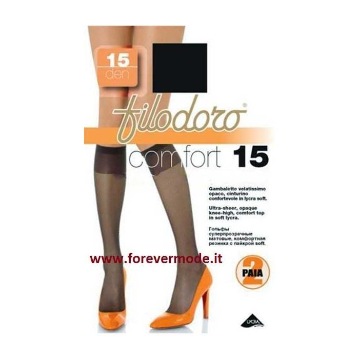 6 Gambaletti donna Filodoro Comfort 15 cinturino confortevole