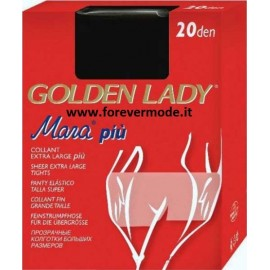 14 Collant donna Golden Lady Mara 20 XXL calibrate Extra Large in filanca
