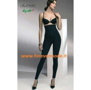 Leggings donna Lepel modellante, vita alta in morbida microfibra