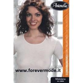 Maglia donna Antonella misto lana con profili raso elasticizzato