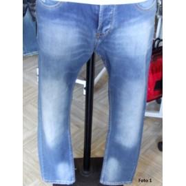 Jeans uomo Gianni Lupo con cucitura posteriore e sbiaditure