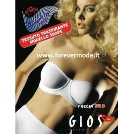 Reggiseno donna Gios fascia con ferretto non imbottito in microfibra traspirante