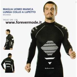Maglia uomo Move Sportswear lupetto manica lunga tessuto tecnico