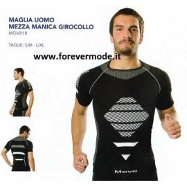 Maglia uomo Move Sportswear manica corta in tessuto tecnico