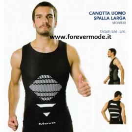 Canottiera uomo Move Sportswear spalla larga in tessuto tecnico