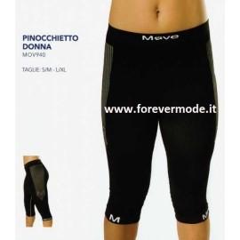 Pinocchietto donna Move Sportswear ginocchio in tessuto tecnico