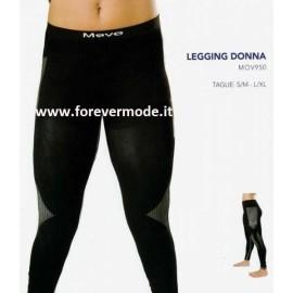 Leggings donna Move Sportswear lungo in tessuto tecnico