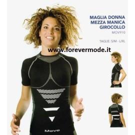 Maglia donna Move Sportswear manica corta in tessuto tecnico