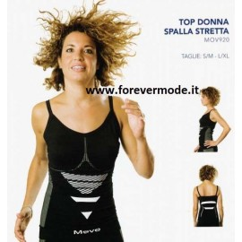 Canottiera donna Move Sportswear, tessuto tecnico spalla stretta