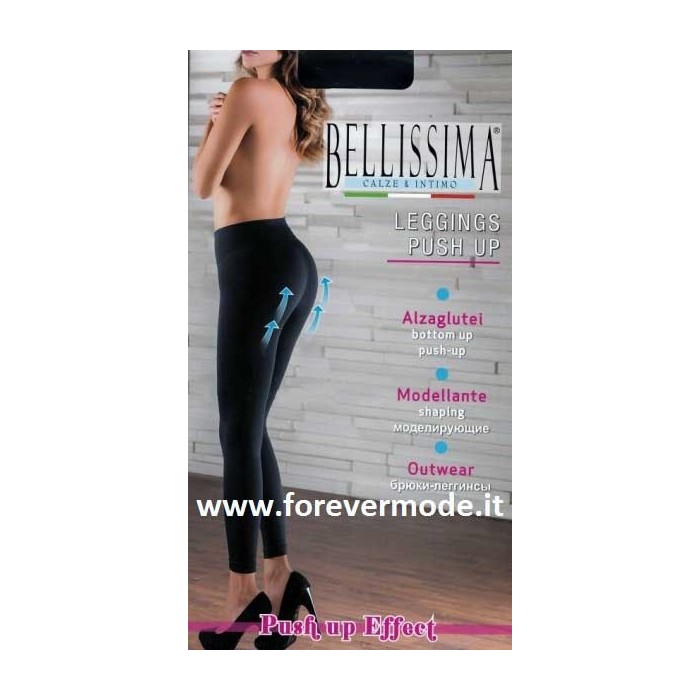 Leggings donna Bellissima in microfibra, modellante e alzaglutei