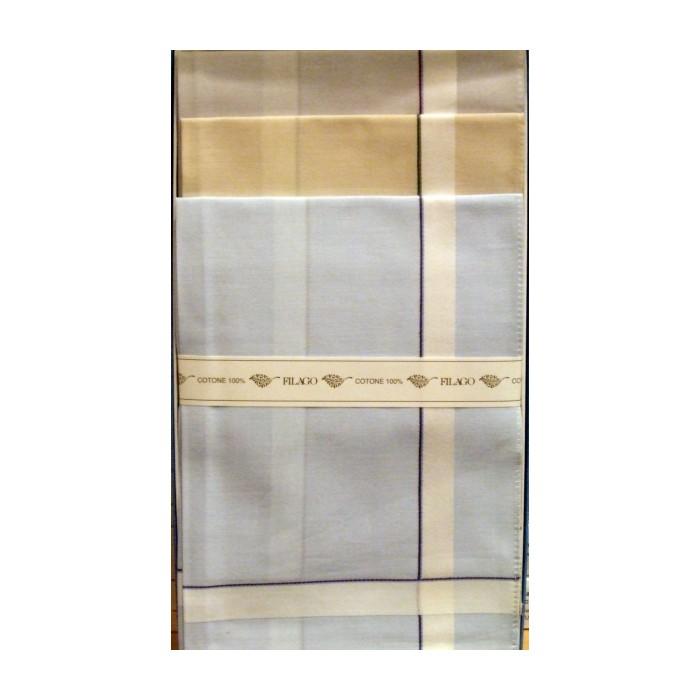 Fazzoletti uomo K2 tinta unita con righe vicino ai bordi