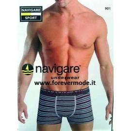 3 Boxer uomo Navigare in cotone a righe con elastico loggato