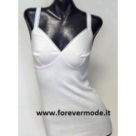 3 Canottiere donna Gicipi a spalla stretta in cotone con forma del seno
