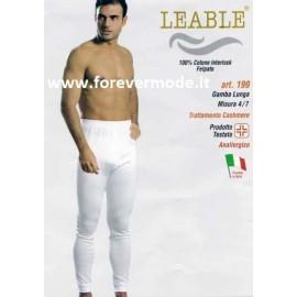 1745bc6c27618e 3 Mutande uomo Leable con gamba lunga in caldo cotone felpato invernale