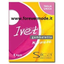 6 Paia di Gambaletti donna Silca Ivet Microrete con bordo comfort