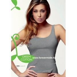 Canottiera donna Jadea spalla larga in cotone elasticizzato