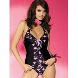 Sexy lingerie donna Obsessive Corazone completo top + perizoma