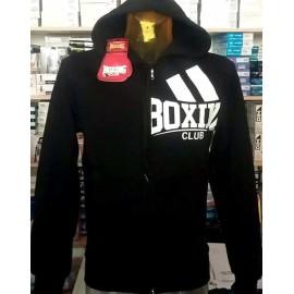 Felpa uomo Boxing Club con logo stampato e cappuccio