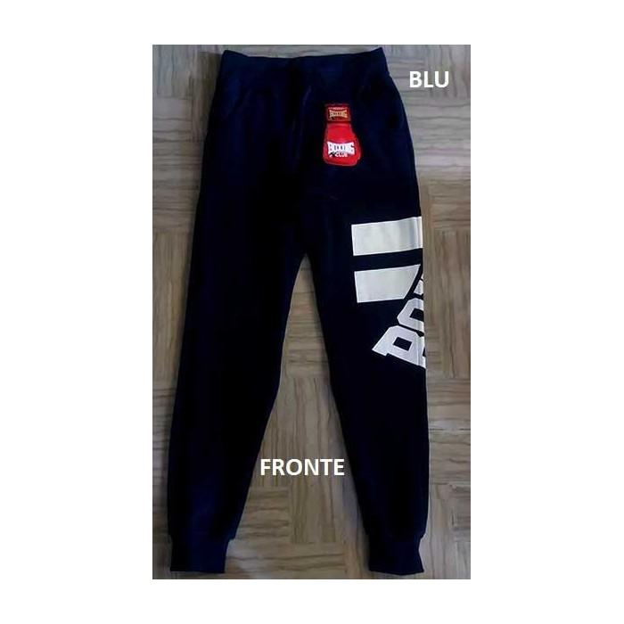 E Tuta In Pantalone Logo Vita Tasche Elastico Uomo Stampato Boxing Con OfxwqdTf