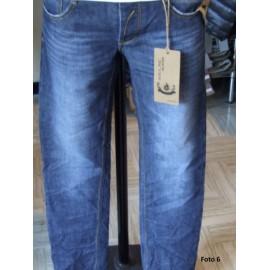 Jeans uomo Suol Denim con sbiaditure effetto stropicciato
