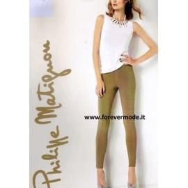 Leggings pantalone donna Matignon leggero, tasche vere sul retro