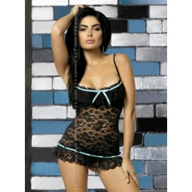 Sexy lingerie donna Obsessive, Curacao chemise in pizzo