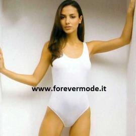 Body donna Vajolet spalla larga in microfibra con scollatura ampia
