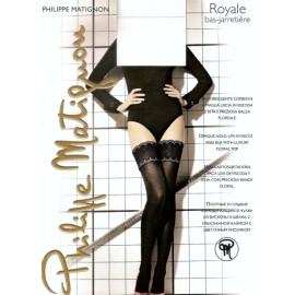 Autoreggente donna Matignon Royale coprente a maglia liscia