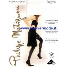 Collant donna Matignon Enigme coprente con rombi ad incastro