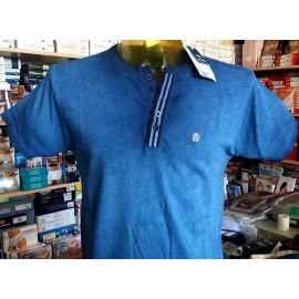 T-shirt uomo Baci & Abbracci manica corta a serafino in cotone con logo