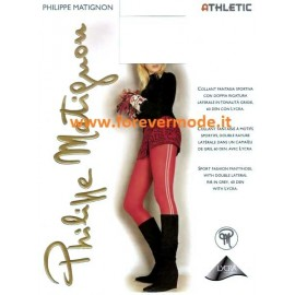 Collant donna Matignon Athletic sportiva con righe laterali