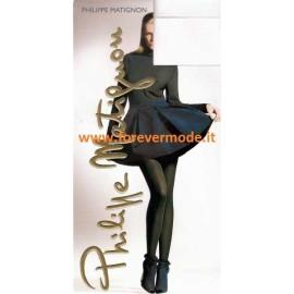 Collant donna Matignon Reflet coprente con motivo a diagonali