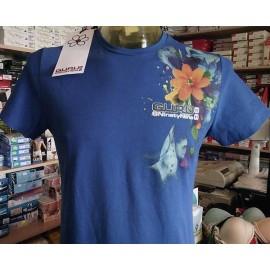 T-shirt uomo Guru manica corta a girocollo in cotone con stampa laterale e logo