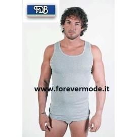 Canottiera uomo FDB a spalla larga in jersey di cotone liscio