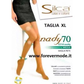 10 Collant donna Silca Nady70 XL Compressione media mmHG 12/14