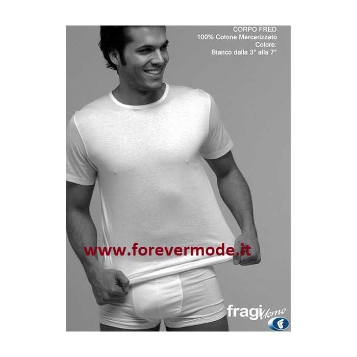 3 T-Shirt uomo Fragi in cotone mercerizzato con collo basso