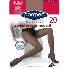 3 Collant donna Pompea Fashion 20 opaco con corpino a vita bassa