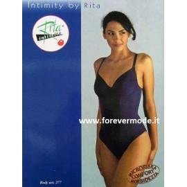 Body donna Rita senza ferretto non imbottito, controllo leggero