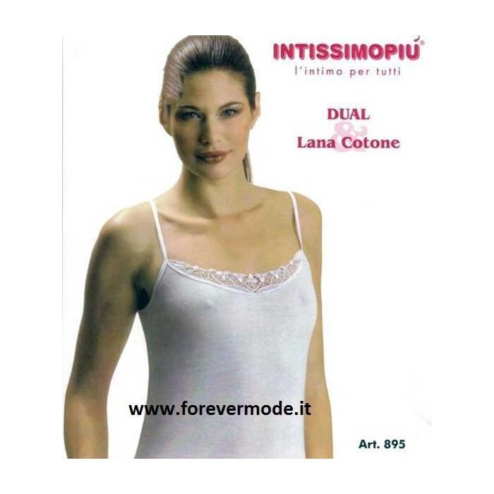 Donna 3 A Stretta Lana E Spalla Intissimopiu Canottiere Cotone In rtshQCd