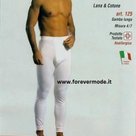 3 Mutande uomo Leable a gamba lunga con cotone sulla pelle e caldo misto lana fuori