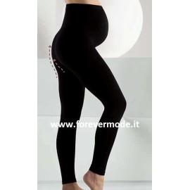 Leggings donna Bellissima Maternity, supporto pancia e cinturino