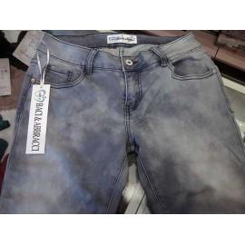 Jeans donna Baci & Abbracci elasticizzato ad effetto invecchiato