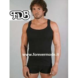 Canottiera uomo FDB a spalla stretta in jersey di cotone costina
