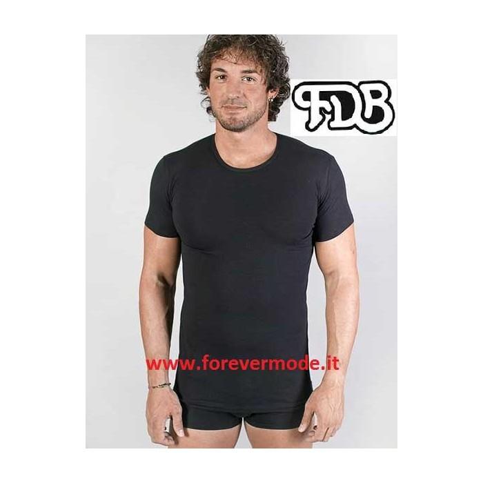 T-Shirt maglia uomo FDB girocollo a manica corta in cotone