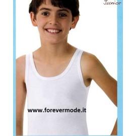 3 Canotte bambino Antonella spalla larga in cotone aderente