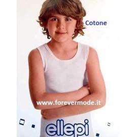 Canottiera bambino Ellepi spalla larga girocollo in cotone