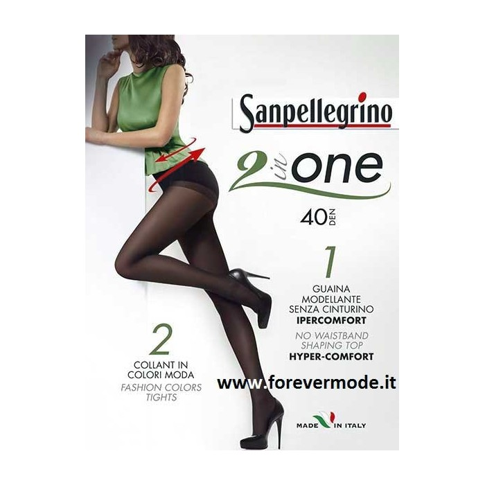 2 Collant donna Sanpellegrino 40den con guaina modellante
