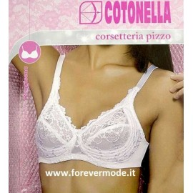 Reggiseno donna Cotonella in pizzo senza ferretto con ali di sostegno