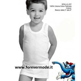 6 Canottiere bambino Fragi a spalla larga in morbido cotone pettinato